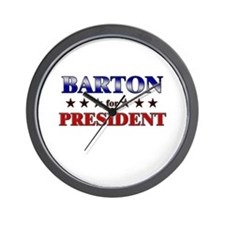 BARTON for president Wall Clock