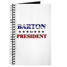 BARTON for president Journal