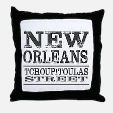 New Orleans Tchoupitoulas Street Throw Pillow