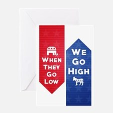 Low High Greeting Cards