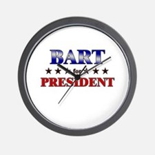 BART for president Wall Clock