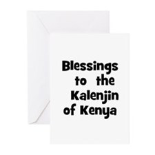 Blessings  to  the  Kalenjin  Greeting Cards (Pk o