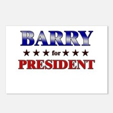 BARRY for president Postcards (Package of 8)