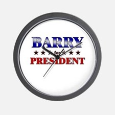 BARRY for president Wall Clock