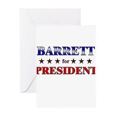 BARRETT for president Greeting Card