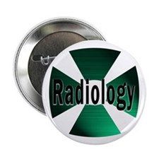 """Radiology in Green 2.25"""" Button (10 pack)"""