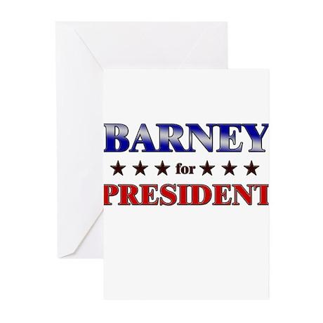 BARNEY for president Greeting Cards (Pk of 20)