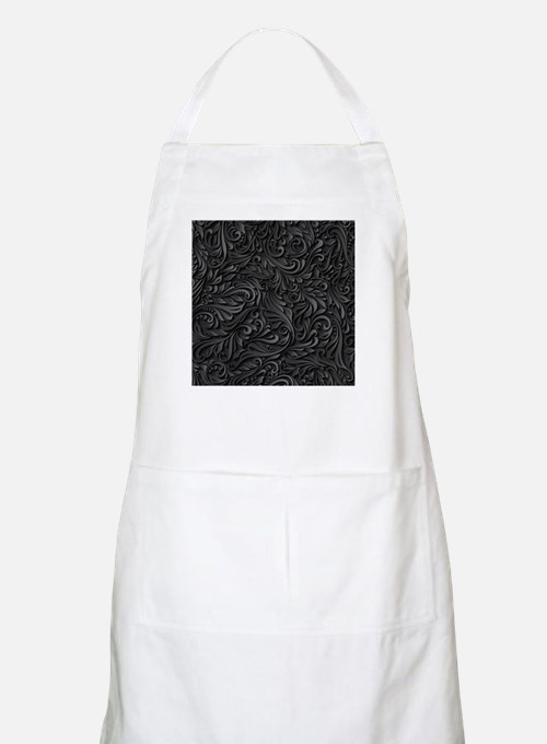 Black Flourish Light Apron