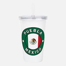 Puebla Mexico Acrylic Double-wall Tumbler
