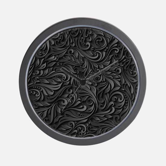 Black Flourish Wall Clock
