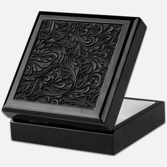 Black Flourish Keepsake Box