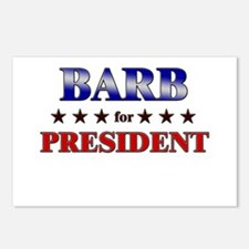 BARB for president Postcards (Package of 8)