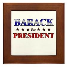 BARACK for president Framed Tile