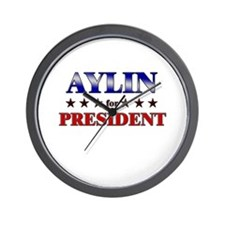AYLIN for president Wall Clock
