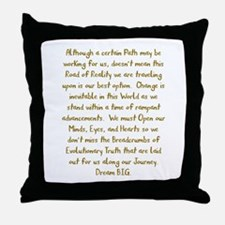 Breadcrumbs of Evolutionary Truth Throw Pillow