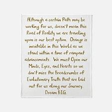 Breadcrumbs of Evolutionary Truth Throw Blanket