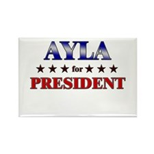 AYLA for president Rectangle Magnet