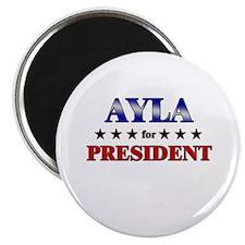 """AYLA for president 2.25"""" Magnet (10 pack)"""