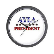 AYLA for president Wall Clock