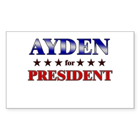 AYDEN for president Rectangle Sticker