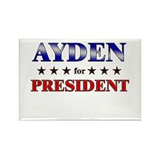 AYDEN for president Rectangle Magnet
