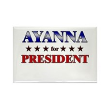 AYANNA for president Rectangle Magnet