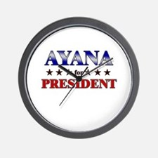 AYANA for president Wall Clock