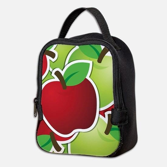 Funky mixed apples Neoprene Lunch Bag