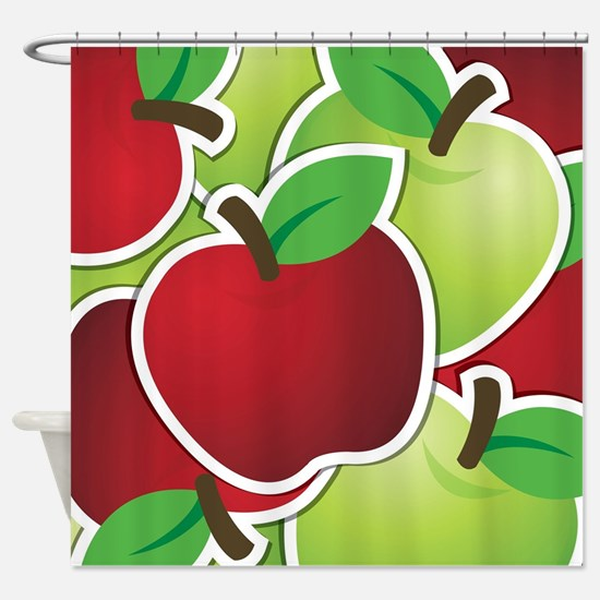 Funky mixed apples Shower Curtain