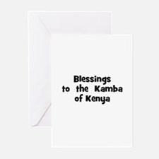 Blessings  to  the  Kamba of  Greeting Cards (Pk o