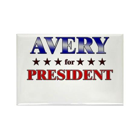 AVERY for president Rectangle Magnet (10 pack)