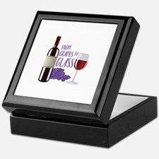 Grapes To Glass Keepsake Box