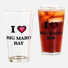 I love Big Maho Bay Virgin Islands Drinking Glass