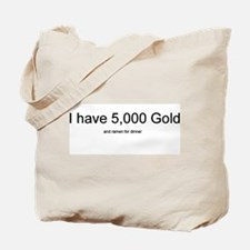 Gold and ramen WoW Tote Bag