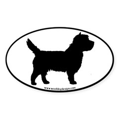 Cairn Terrier (black border) Oval Decal
