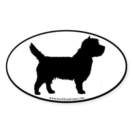 Cairn Terrier (black border) Oval Sticker