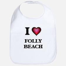 I love Folly Beach South Carolina Bib