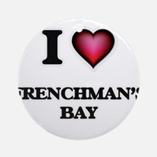 I love Frenchman'S Bay Virgin Islan Round Ornament
