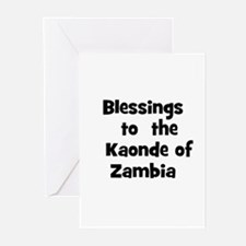 Blessings  to  the  Kaonde of Greeting Cards (Pk o