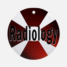 Radiology in Red Ornament (Round)