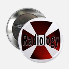 """Radiology in Red 2.25"""" Button (10 pack)"""