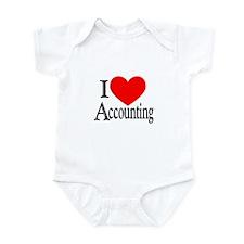 I Love Accounting Infant Bodysuit