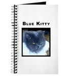Blue Kitty Cat Journal