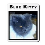 Blue Kitty Cat Mousepad