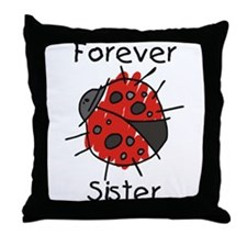Forever Sister Throw Pillow