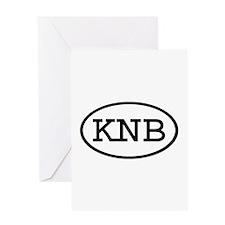 KNB Oval Greeting Card
