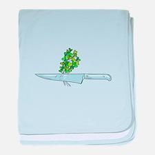 Knife Microgreen Drawing baby blanket