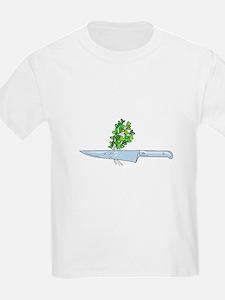 Knife Microgreen Drawing T-Shirt