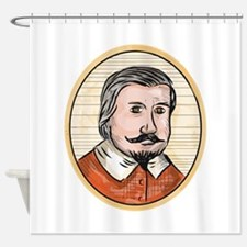 Medieval Aristocrat Gentleman Oval Woodcut Shower