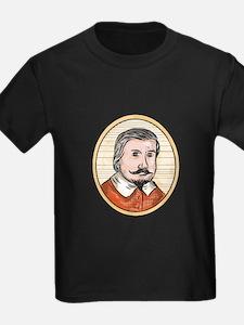 Medieval Aristocrat Gentleman Oval Woodcut T-Shirt